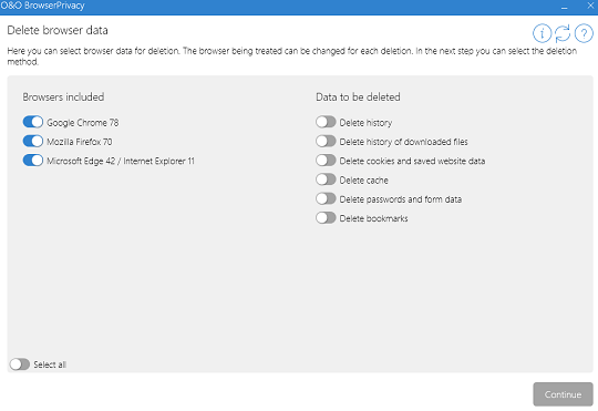 O&O BrowserPrivacy