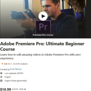 Adobe Premiere Pro Ultimate Beginner Course