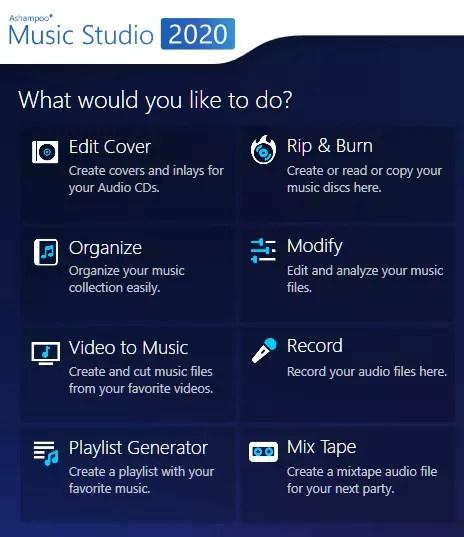 Ashampoo Music Studio 2020 UI- Main Window