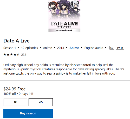 Date A Live Anime film
