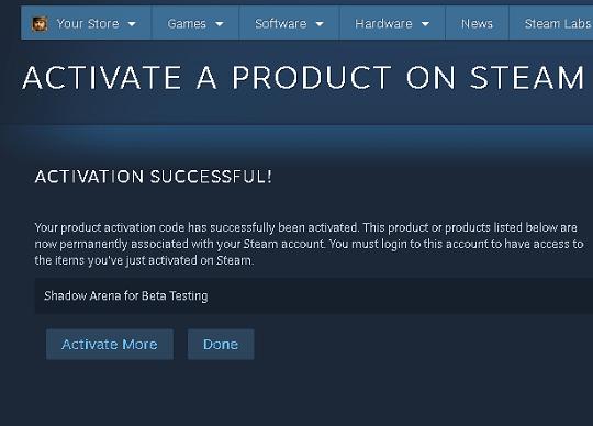 shadow arena beta testing steam key