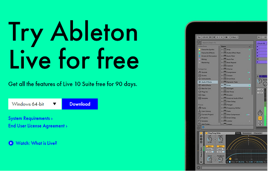 Ableton Live 10 suite free for 90 days