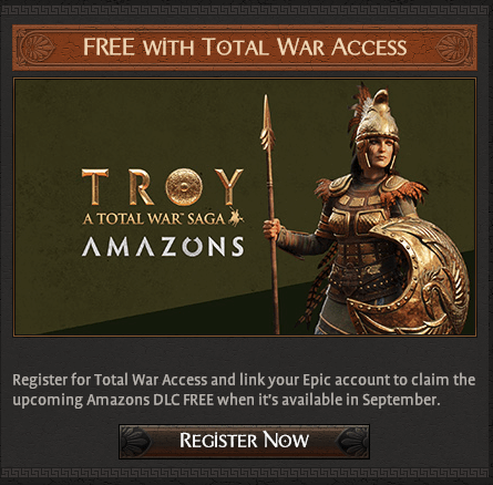 A Total War Saga Troy dlc-Amazons