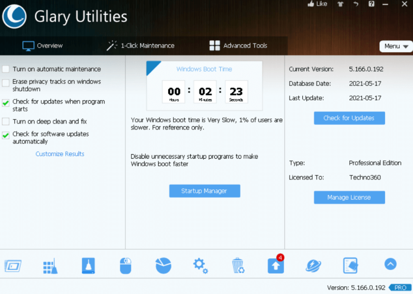 Glary Utilities Pro 5.166