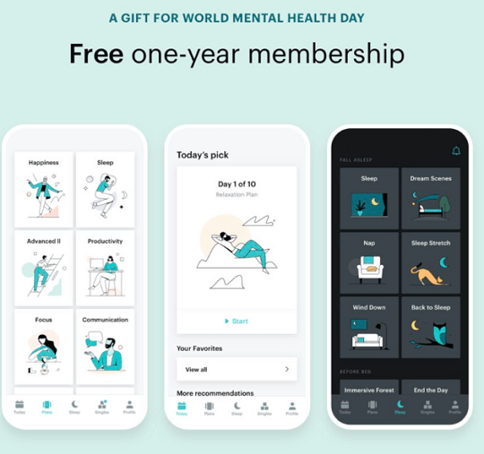 Balance meditation app Free 1 Year membership
