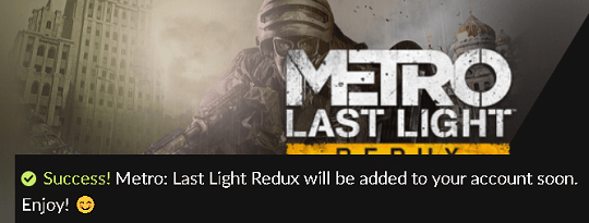 Metro Last Light Redux PC game giveaway