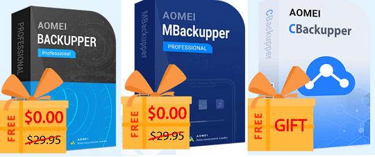 World backup day Giveaway softwares by AOMEI