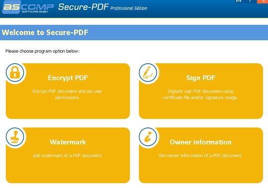 ASCOMP Secure-PDF