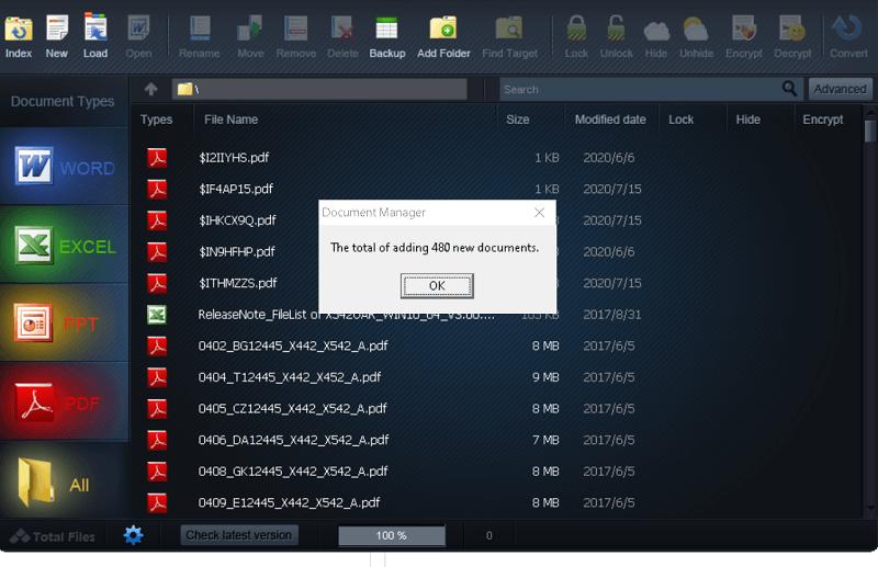 WonderFox Document Manager - Main Window