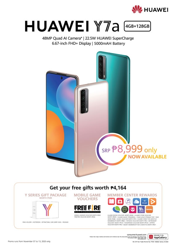 Huawei Y7a price promo