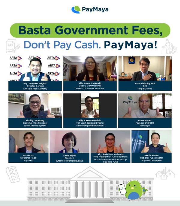 PayMaya Government cashless payment