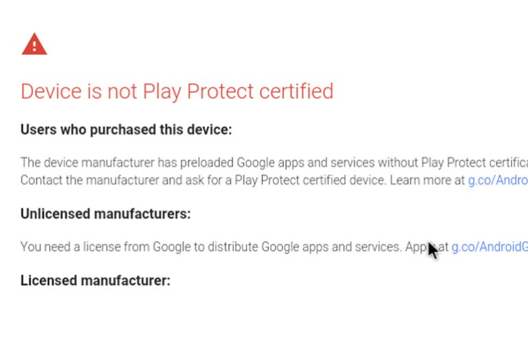 How to Fix Device is not Play Protect certified