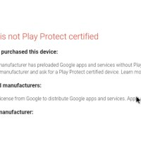 "How to fix ""Device is not Play Protect certified"" error"