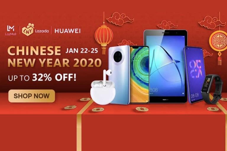 Huawei Chinese New Year Promo on Lazada