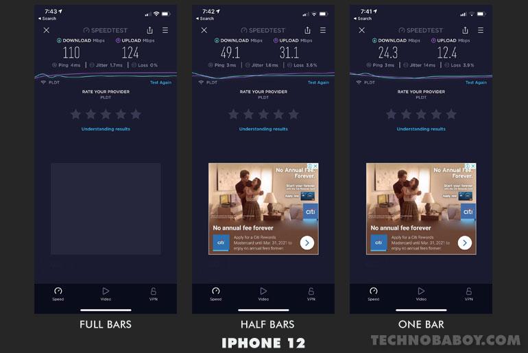 Huawei WiFi AX3 Speed Test iPhone 12