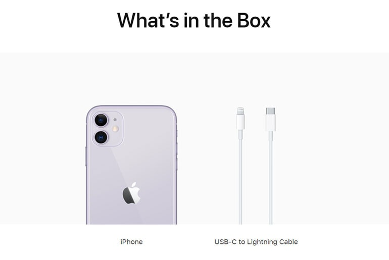 iPhone no charger and earpods