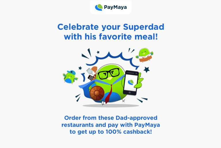 paymaya fathers day cashback