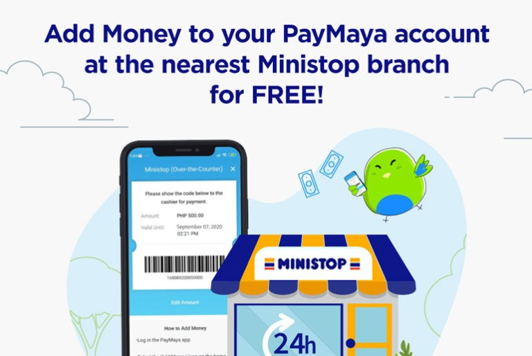 how to add money to paymaya at ministop
