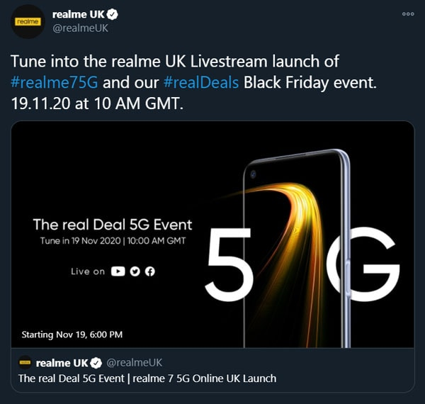 realme 7 5G launch date