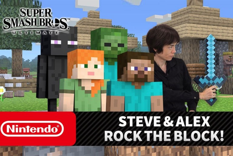 Steve and Alex of Minecraft coming to Super Smash Brothers