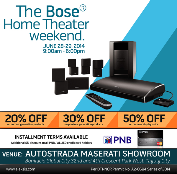 the bose home theater weekend facebook and twitter O2