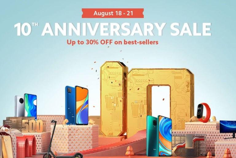 Xiaomi anniversary sale on Shopee and Lazada