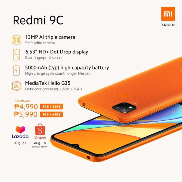 Redmi 9C Price Philippines