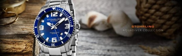 Stuhrling Original Rotating Unidirectional Bezel Dive Watch