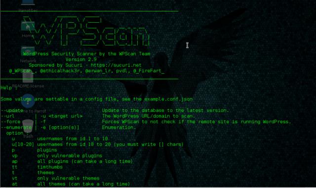 WPScan Parrot OS