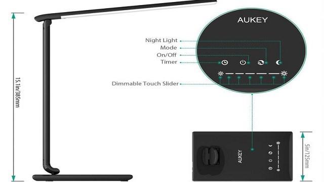 TechnoBlitz.it Aukey LT-T10, lampada touch a LED
