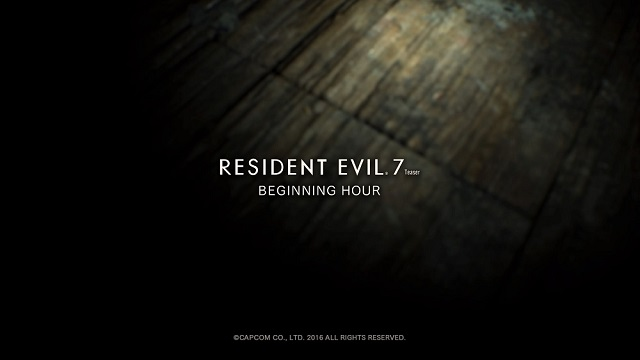 Resident Evil 7 Beginning Hour disponibile su PC