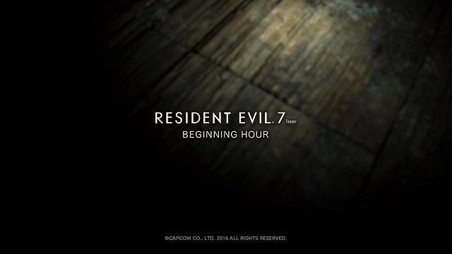 Resident Evil 7 Beginning Hour disponibile su PC