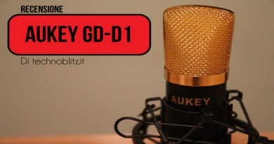 TechnoBlitz.it Recensione microfono Aukey GD-D1