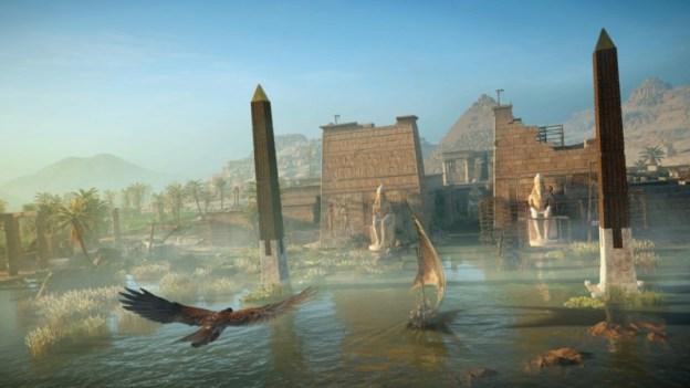 Screenshot Assassin's Creed Origins dall'alto