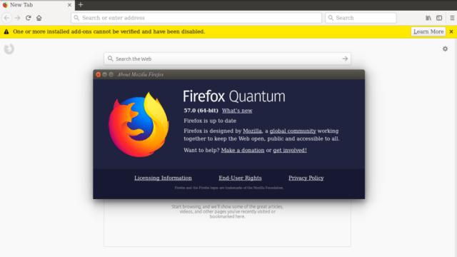 firefox quantum su Linux