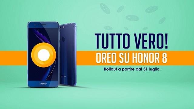 ANDROID OREO APPRODA SU HONOR 8