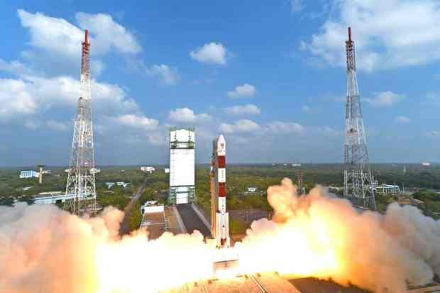 The PSLV-XL - C37 moments before lift-off