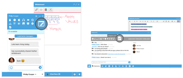 whiteboard and writeboard - Collaboration - cometchat features