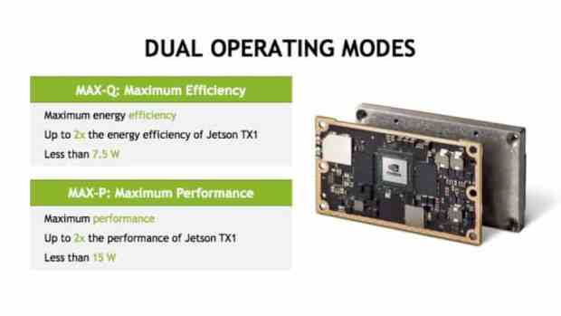 Nvidia's Jetson TX2 dual operating modes