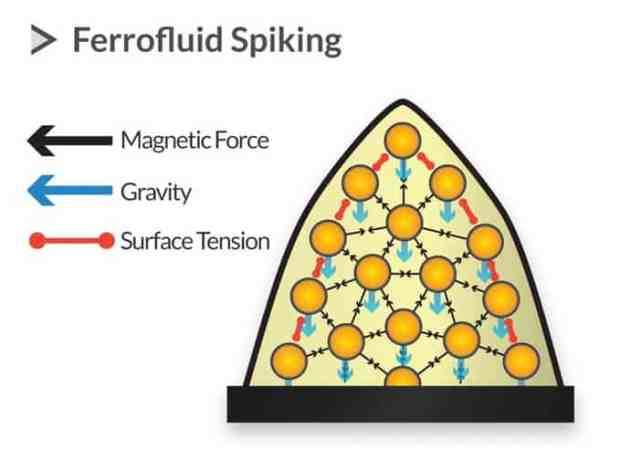 how are spikes formed in a Ferrofluid