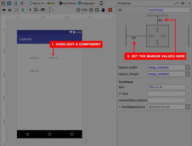 layouts in Android Studio