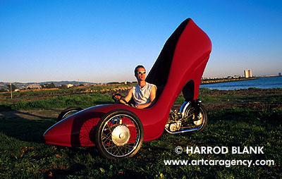 red stilleto car