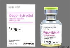 Stock photo of brand name Depo-Estradiol.