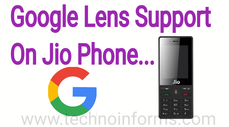 Jio Phone Users Get Google Lens Support