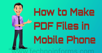 How to Make PDF File in Mobile