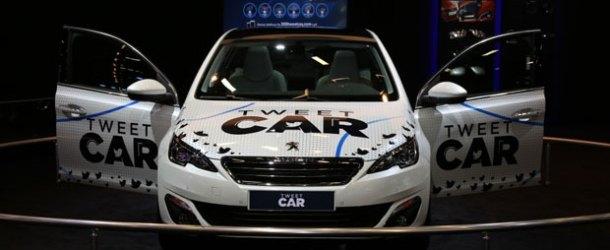 Peugeot'dan tweet ile çalışan otomobil
