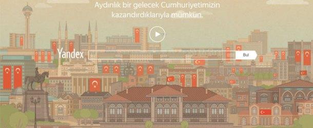 Yandex'ten Cumhuriyet Bayramı'na özel kutlama