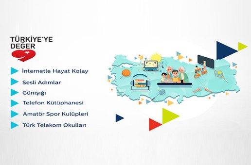 Türk Telekom'un projeleri 'Türkiye'ye Değer Haritası'nda