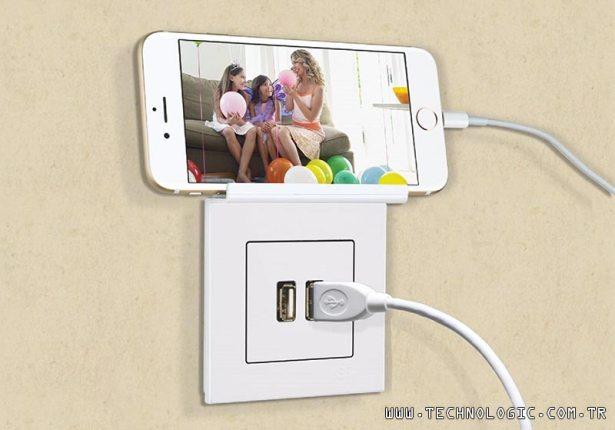 Günsan Eqona USB'li şarj prizi