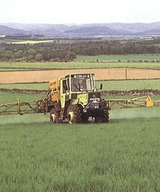 Herbicidais purškiamas laukas